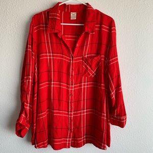Plus size flannel